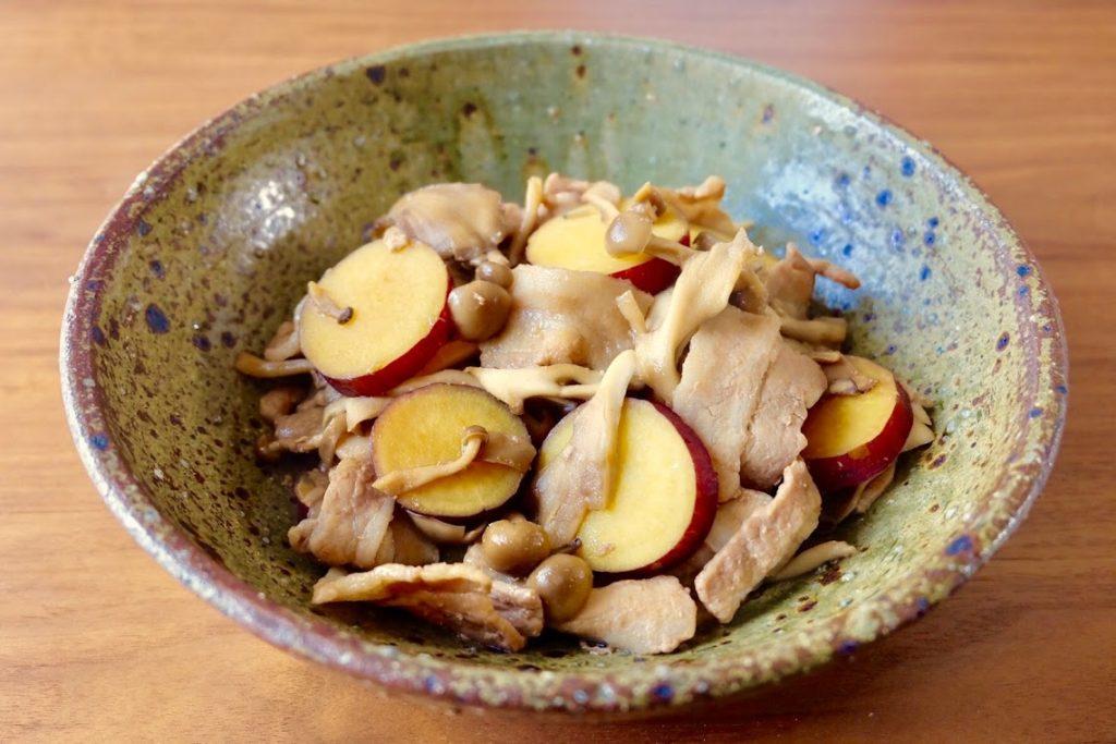 ほくほく♪さつま芋と豚肉の照り煮
