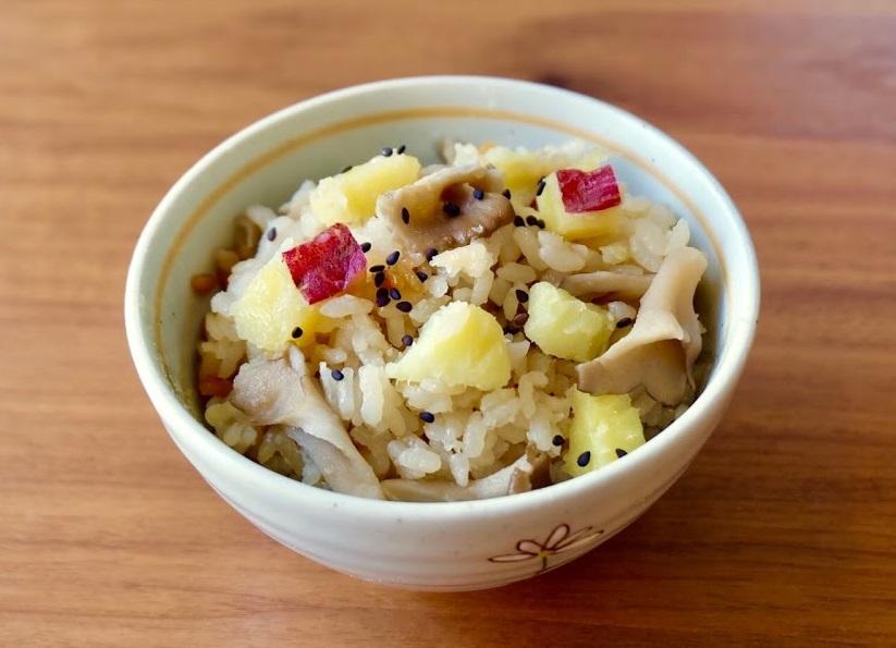 さつま芋と舞茸の炊き込みごはん