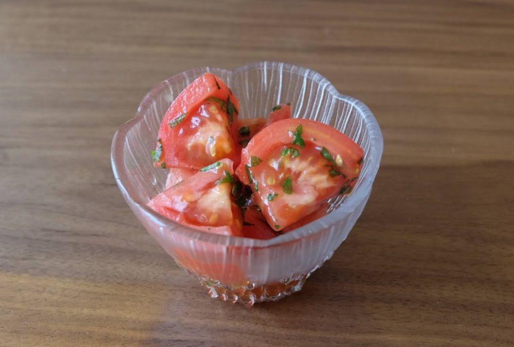 和えるだけ♪大葉香る冷やしトマト