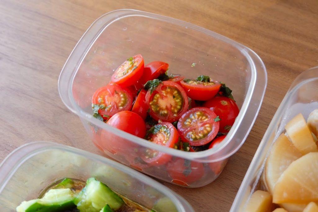 トマトのしそマリネ【作り置きおかずレシピ】