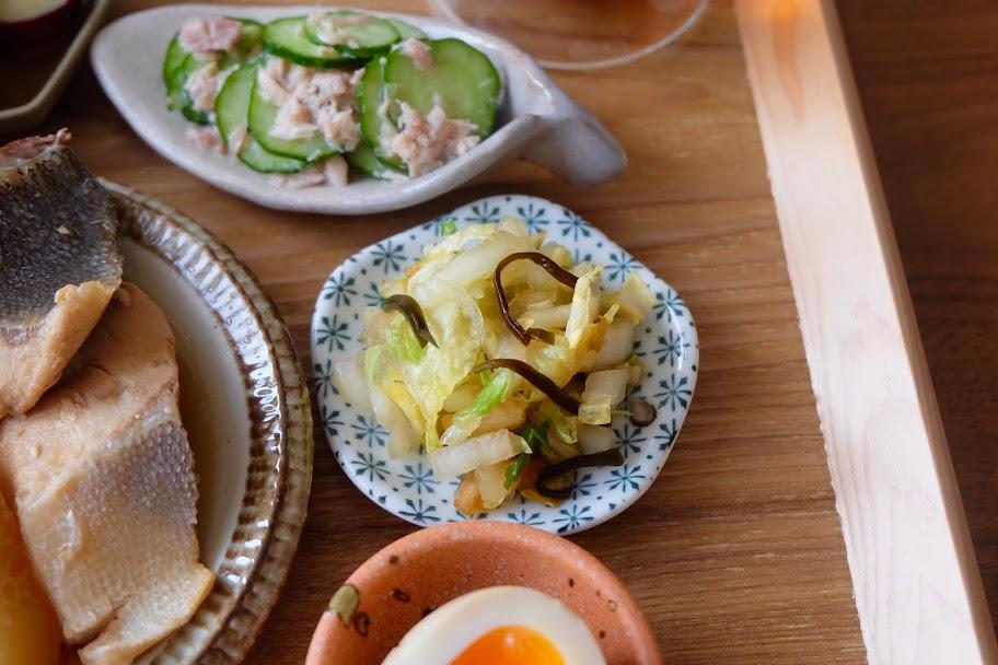 白菜の塩昆布和え【週末の作り置きおかずレシピ】