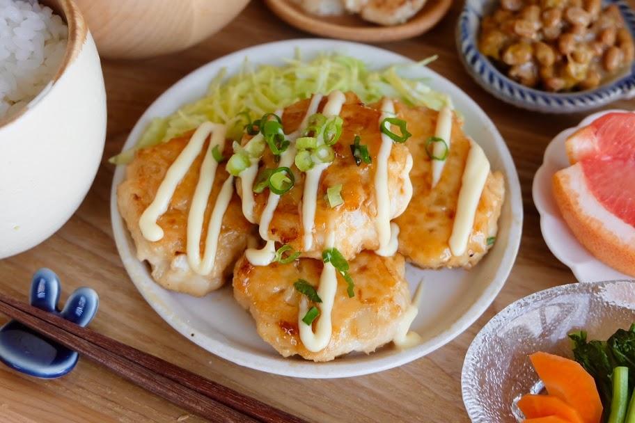 ふわふわ♪鶏マヨつくね【平日の時短ごはんレシピ】