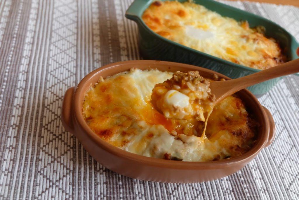 とろ〜り卵のカレードリア【平日の時短ごはんレシピ】