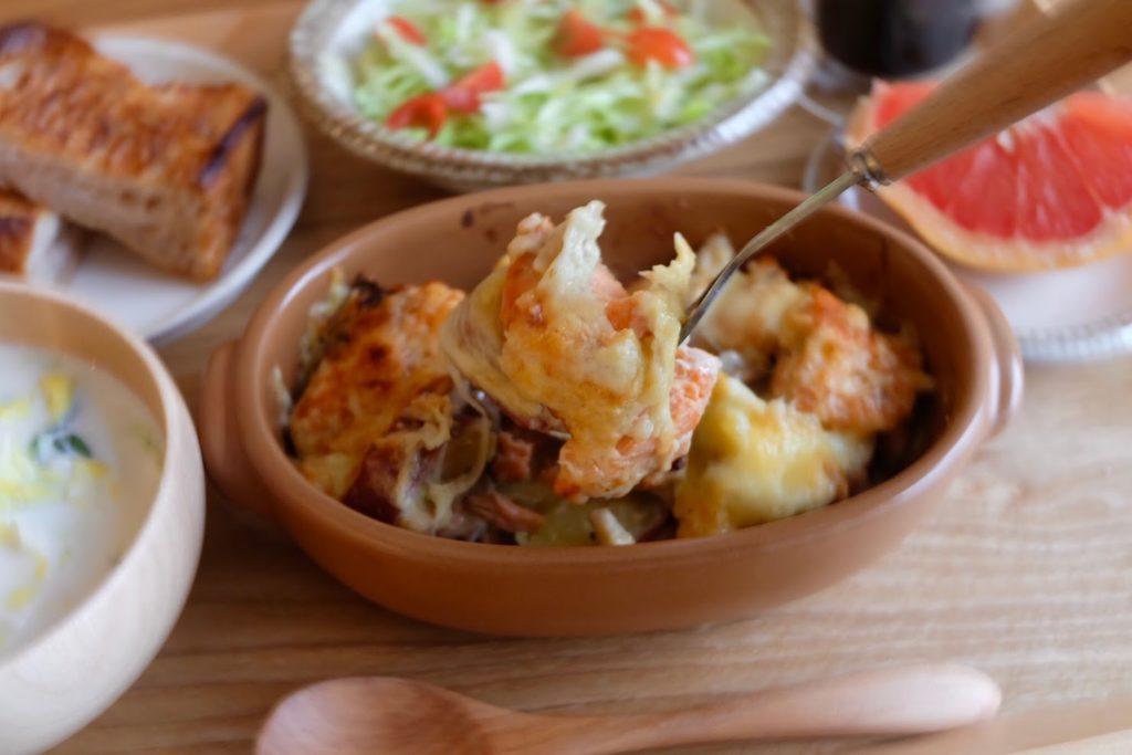 超簡単♪鮭とさつま芋のチーズ焼き