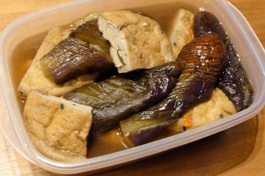 あっさり♪茄子とがんもの煮物【週末の作り置きおかずレシピ】