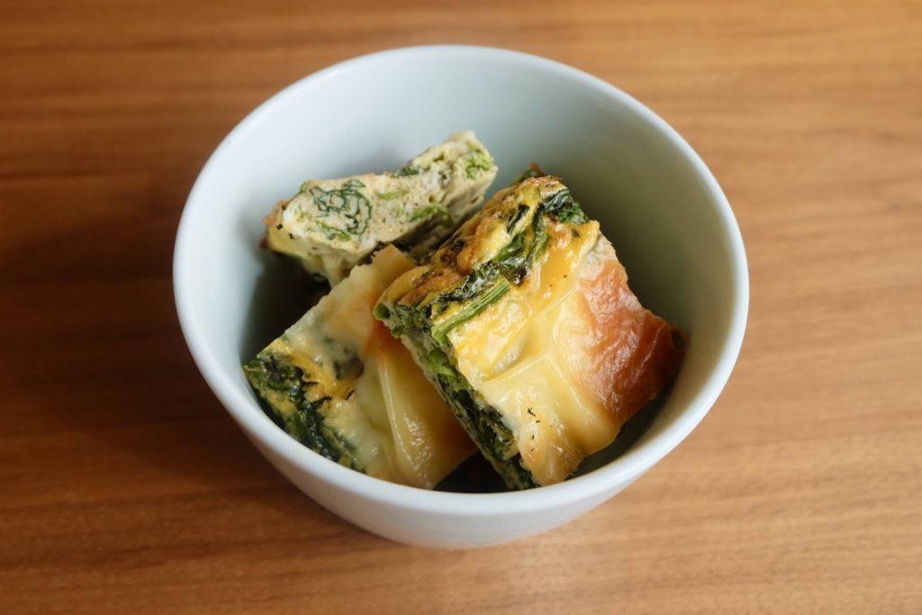 ほうれん草のオーブンオムレツ【週末の作り置きおかずレシピ】