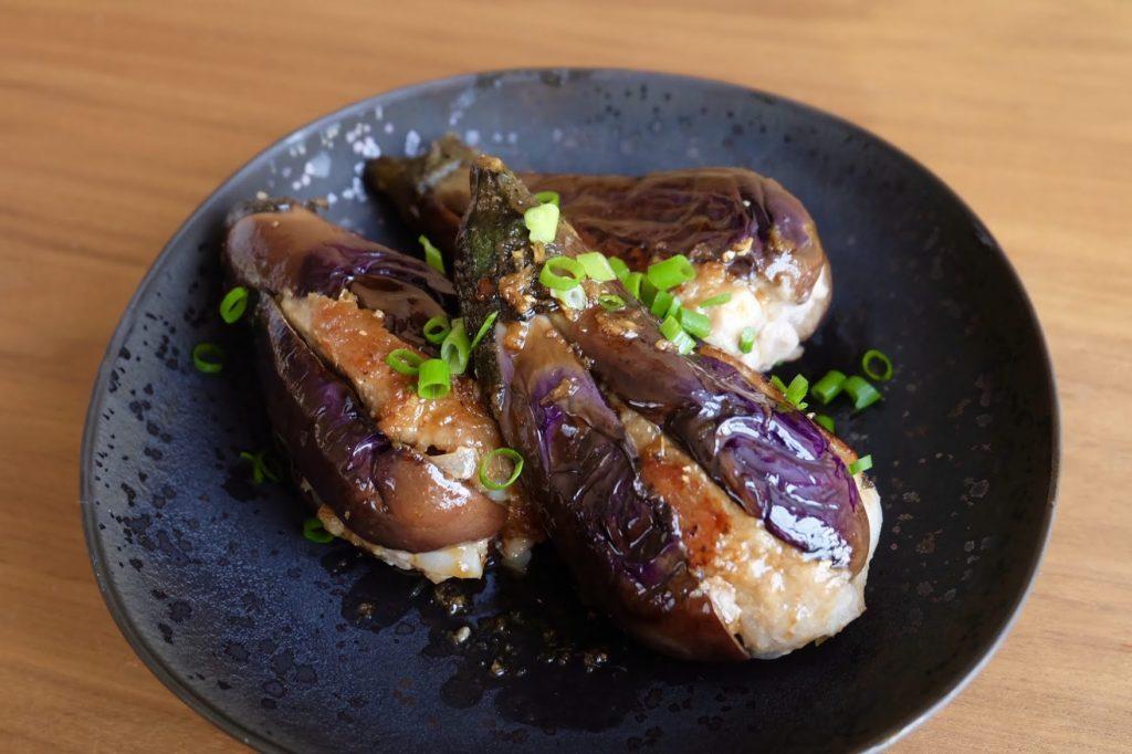 簡単♪茄子とひき肉の挟み焼き【平日の時短ごはんレシピ】