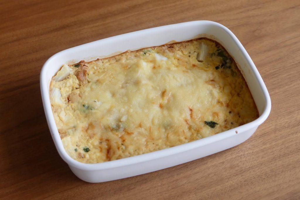 とろとろ♪長芋と豆腐の和風グラタン【週末の作り置きおかずレシピ】
