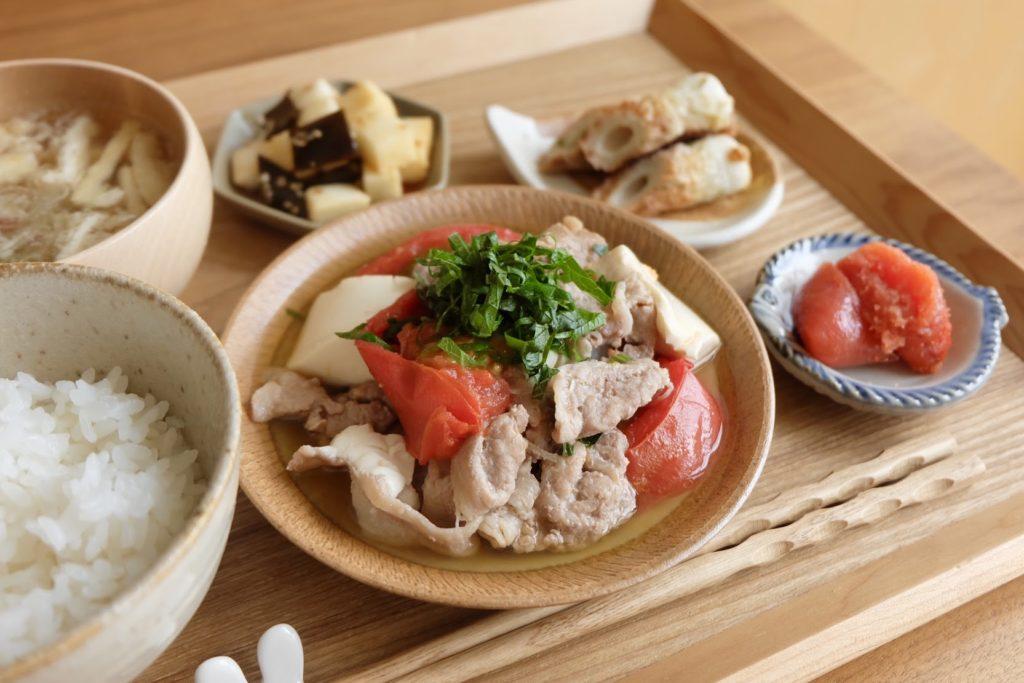 簡単♪トマト豚肉豆腐【だしうまレシピ】