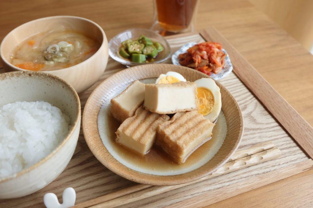 簡単♪厚揚げと卵のさっぱり煮【だしうまレシピ】