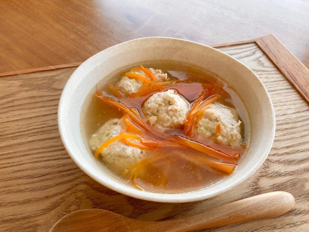 【断食・腸活】鶏団子と人参のスープ