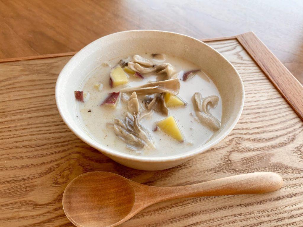 【断食・腸活】さつま芋ときのこのスープ