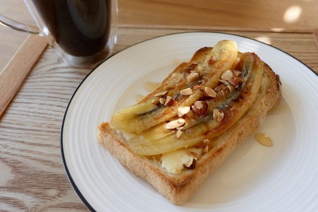 冷凍作り置き♪キャラメリゼバナナトースト