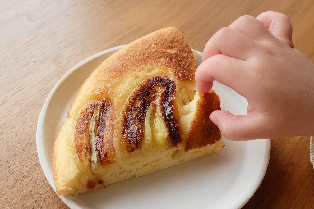 HMで超簡単♪キャラメリゼバナナケーキ【お菓子・デザートレシピ】