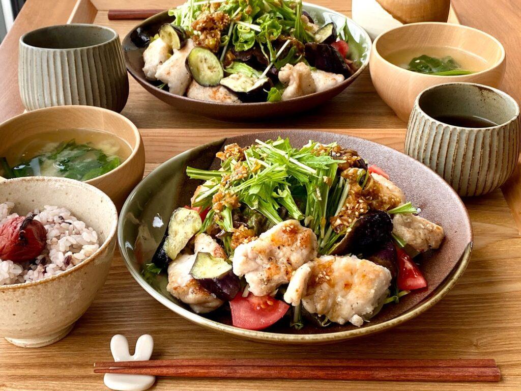 簡単♪野菜たっぷり鶏むね肉の香辛だれ【平日の時短ごはんレシピ】