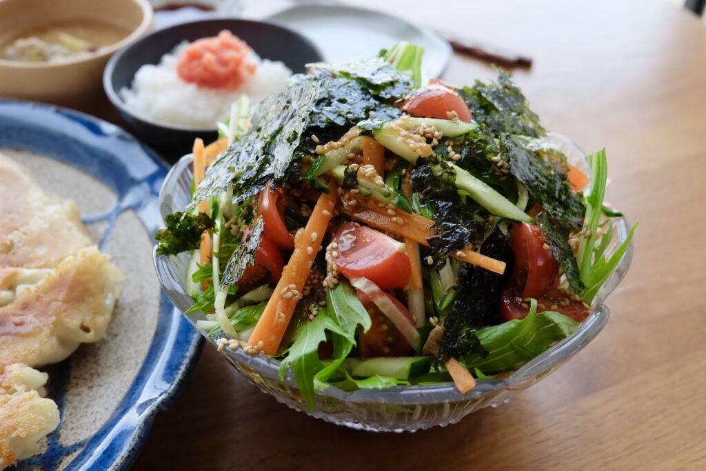 彩り野菜のチョレギサラダ【平日の時短ごはん】