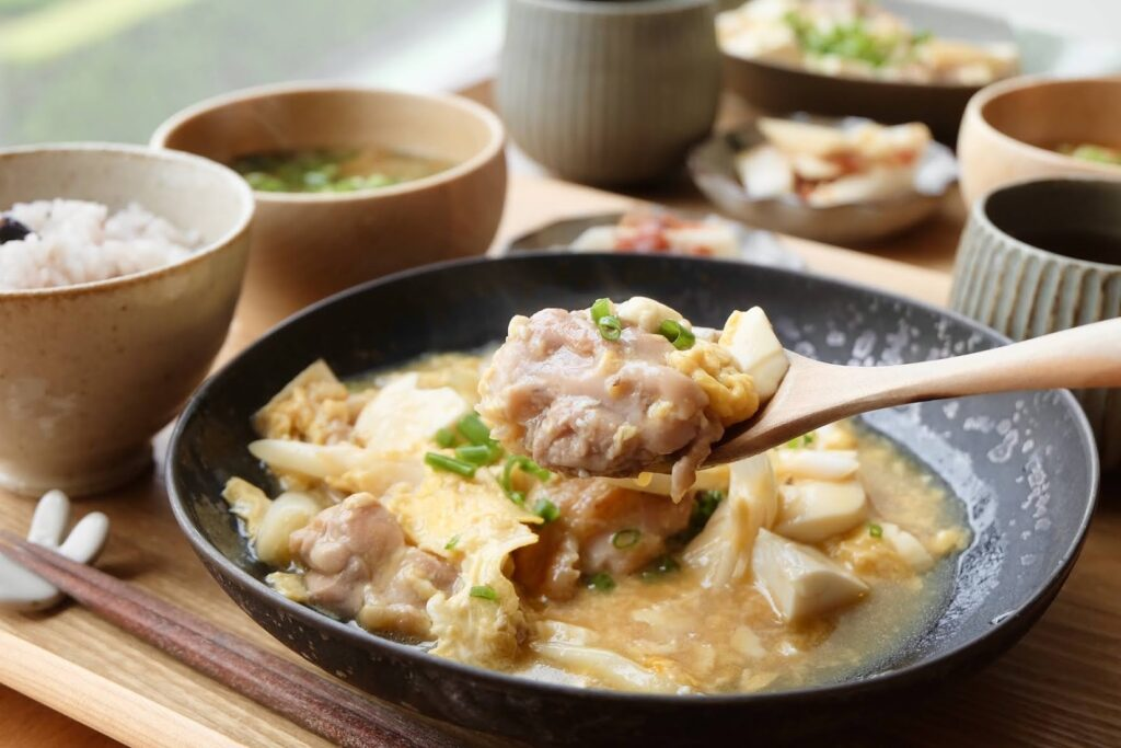 鶏肉と豆腐の卵とじ【平日の時短ごはん】