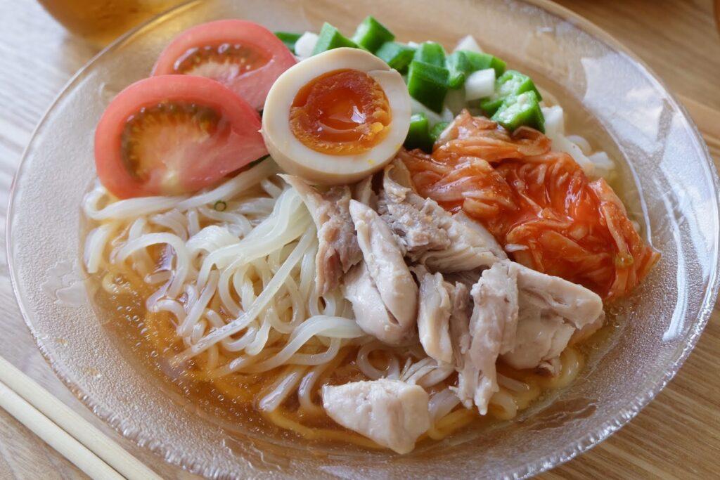 山芋オクラの冷麺【平日の時短ごはん】