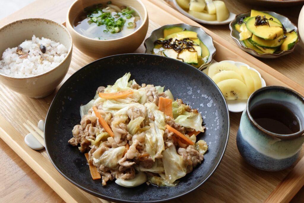 豚肉とキャベツのポン酢炒め【平日の時短ごはん】